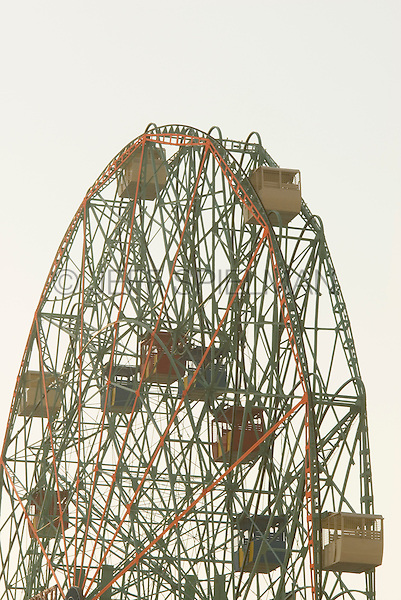 AVAILABLE FROM JEFF AS A FINE ART PRINT.<br /> <br /> AVAILABLE FROM GETTY IMAGES FOR COMMERCIAL and EDITORIAL LICENSING.  Please go to www.gettyimages.com and search for image #102093177.<br /> <br /> Detail of the Wonder Wheel (landmark ferris wheel) at Coney Island.  Coney Island, Brooklyn, New York City, New York State, USA