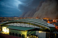 Jul. 5, 2011; Phoenix, AZ, USA; A dust storm converges on Chase Field home of the 2011 All Star Game. Mandatory Credit: Mark J. Rebilas-
