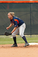 SAN ANTONIO, TX - APRIL 23, 2006: The University of Louisiana at Monroe Warhawks vs. The University of Texas at San Antonio Roadrunners Softball at Roadrunner Field. (Photo by Jeff Huehn)