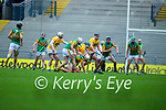 Tomas O'Connor, Kerry in action against Donal Nugent, Antrim during the Joe McDonagh Cup Final match between Kerry and Antrim at Croke Park in Dublin.