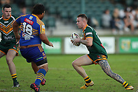 The Wyong Roos play Toukley Hawks in Round 3 of the Reserve Grade Central Coast Rugby League Division at Morry Breen Oval on 19th of April, 2019 in Kanwal, NSW Australia. (Photo by Paul Barkley/LookPro)