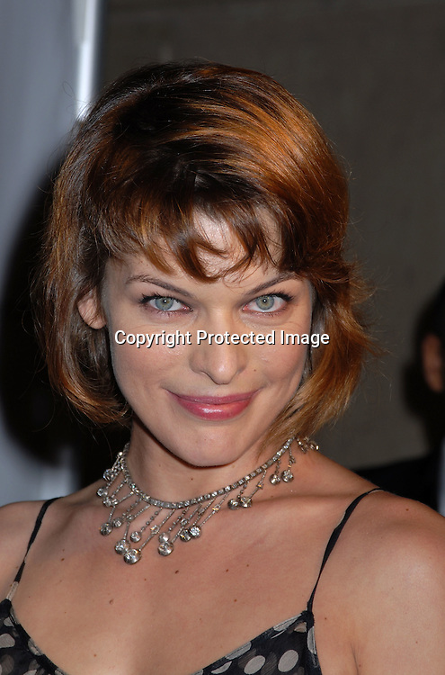 Milla Jovovich ..arriving at The Ovarian Cancer Research Fund L'Oreal Legends Gala on November 8, 2006 at The American Museum of Natural History. ..Robin Plater, Twin Images