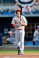 Palm Beach Cardinals second baseman Colin Walsh #8 during a game against the Charlotte Stone Crabs at Charlotte Sports Park on April 7, 2013 in Port Charlotte, Florida.  Palm Beach defeated Charlotte 8-1.  (Mike Janes/Four Seam Images)