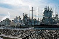 Carson CA:  Atlantic-Richfield Refinery.  Panorama.  Photo '88.