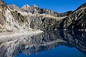 Lac de Cap-de-Long, a reservoir in the  Hautes-Pyrenees, Midi-Pyrenees,  Pyrenees, France. August.