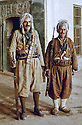 Iraq 1963 .2 peshmergas in Lalish ,the yezidi holy shrine.Irak 1963.Deux peshmergas a Lalish, le sanctuaire des Yezidis