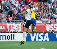 Abby Wambach, Calandrini.  The USWNT defeated Brazil, 4-1, at an international friendly at the Florida Citrus Bowl in Orlando, FL.