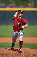 Arizona Diamondbacks pitcher Cameron Gann (15) during an instructional league game against the Texas Rangers on October 10, 2015 at the Salt River Fields at Talking Stick in Scottsdale, Arizona.  (Mike Janes/Four Seam Images)
