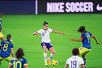 ORLANDO, FL - JANUARY 18: Carli Lloyd #10 of the USWNT dribbles the ball during a game between Colombia and USWNT at Exploria Stadium on January 18, 2021 in Orlando, Florida.