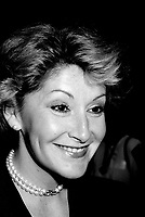 Louise Deschatelets  <br /> attend the Rene Levesque tribute at Montreal's convention centre, October 2nd,1985.<br /> <br /> File Photo : Agence Quebec Presse - Pierre Roussel