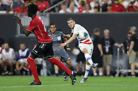 CLEVELAND, OHIO - JUNE 22: Paul Arriola #7 during a 2019 CONCACAF Gold Cup group D match between the United States and Trinidad & Tobago at FirstEnergy Stadium on June 22, 2019 in Cleveland, Ohio.