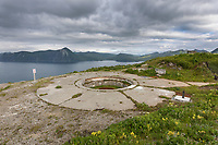 Aleutians world war II national historic area, Mt. Ballyhoo, Amaknak Island, Dutch Harbor, Aleutian Islands, Alaska.