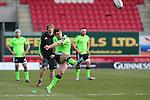 Munster outside half Ian Keatley kicks an early penalty.<br /> Guiness Pro12<br /> Scarlets v Munster<br /> 21.02.15<br /> ©Steve Pope -SPORTINGWALES