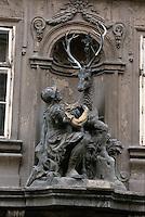 Tschechien, Prag, Haus zum Hirschen auf der Tomazka, Unesco-Weltkulturerbe