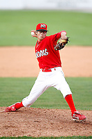 July 18, 2009:  Relief Pitcher Joe Kelly of the Batavia Muckdogs during a game at Dwyer Stadium in Batavia, NY.  The Muckdogs are the NY-Penn League Short-Season Class-A affiliate of the St. Louis Cardinals.  Photo By Mike Janes/Four Seam Images