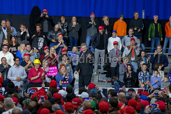 Rick Saccone, Republican Congressional candidate for Pennsylvania's 18th district, takes the stage during a Make American Great Rally at Atlantic Aviation in Moon Township, Pennsylvania on March 10th, 2018. Photo Credit: Alex Edelman/CNP/AdMedia