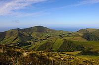 Berge im Inselinneren auf der Insel Flores, Azoren, Portugal