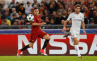 Roma s Stephan El Shaarawy, left, is chased by Chelsea s Marcos Alonso during the Champions League Group C soccer match between Roma and Chelsea at Rome's Olympic stadium, October 31, 2017.<br /> UPDATE IMAGES PRESS/Riccardo De Luca