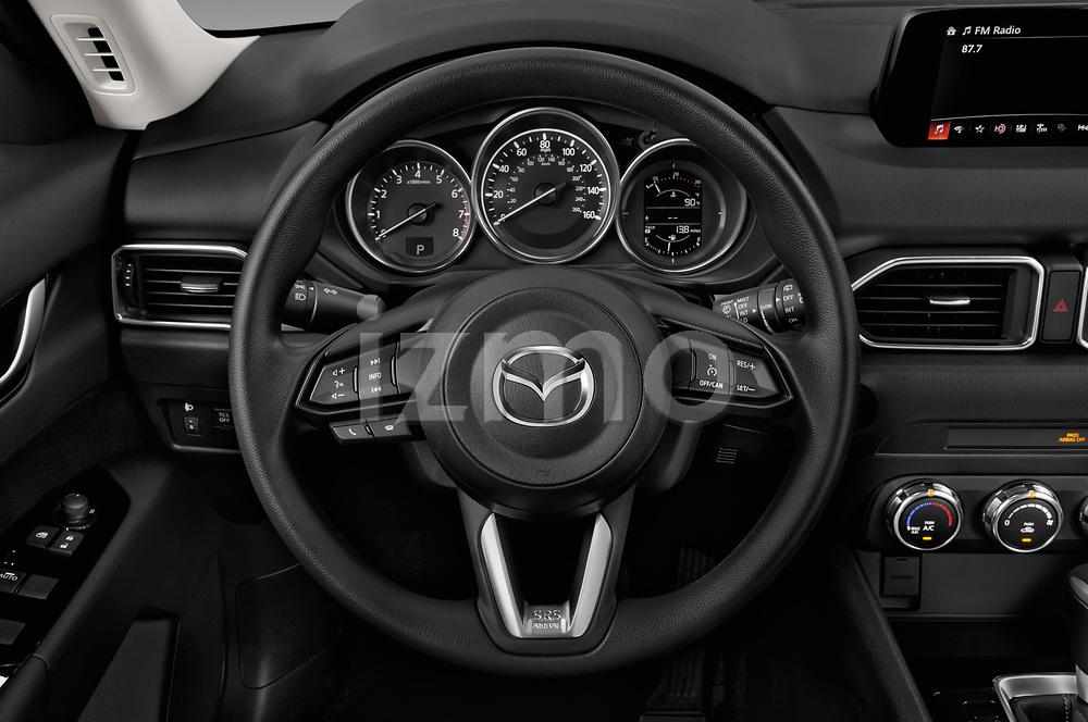 Car pictures of steering wheel view of a 2018 Mazda CX-5 Sport 5 Door SUV