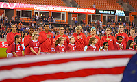HOUSTON, TX - FEBRUARY 03: USWNT starting eleven during a game between Costa Rica and USWNT at BBVA Stadium on February 03, 2020 in Houston, Texas.