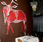 Table Setting, Wall Decor, Champor Restaurant, London, England