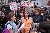 Elaine Donnellon, organiser.  Camden Against Violence silent march by community campaigners and Camden NEU members mobilising against knife crime following a series of fatal stabbings in the borough .