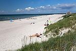 Sweden, Skåne County, Skanoer med Falsterbo: White sand beach and sand dunes | Schweden, Skåne laen, Skanoer med Falsterbo: weisser Sandstrand und Duenen auf der Halbinsel Falsterbo