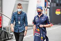 2nd September 2021: Circuit Zandvoort,  Zandvoort, Netherlands;   VERSTAPPEN Max ned, Red Bull Racing Honda RB16B arrives for the Formula 1 Heineken Dutch Grand Prix 2021, 13th round of the 2021 FIA Formula One World Championship