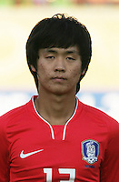 South Korea's Dong Ho Jeong (13) stands on the field before the FIFA Under 20 World Cup Quarter-final match between Ghana and South Korea at the Mubarak Stadium  in Suez, Egypt, on October 09, 2009.