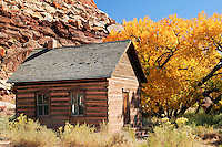 Historic school, Fruita, Capital Reef National Park, Utah