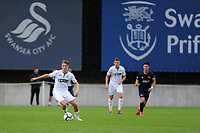 Monday 20th August 2018<br /> Pictured: Swansea City's George Byers<br /> Re: Swansea City U23 v Derby County U23 Premier League 2 match at the Landore Training facility, Swansea, Wales, UK
