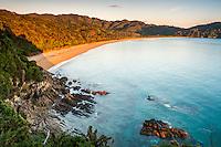 Sunrise on Totaranui beach on Abel Tasman Coast Track, Abel Tasman National Park, Nelson Region, South Island, New Zealand