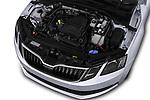 Car stock 2017 Skoda Octavia Ambition 5 Door Hatchback engine high angle detail view
