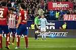 Celta de Vigo's Iago Aspas talking with the referee during La Liga Match at Vicente Calderon Stadium in Madrid. May 14, 2016. (ALTERPHOTOS/BorjaB.Hojas)