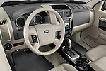 High angle dashboard view of a 2009 Ford Escape Hybrid