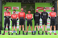 20th April 2021; Cycling Tour of the Alps Stage 2, Innsbruck, Feichten Im Kaunertal Austria; Nairo Quintana Arkea Samsic and team mates