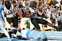 CHAPEL HILL, NC - SEPTEMBER 21: Darrynton Evand #3 of Appalachian State University scores a touchdown during a game between Appalachian State University and University of North Carolina at Kenan Memorial Stadium on September 21, 2019 in Chapel Hill, North Carolina.