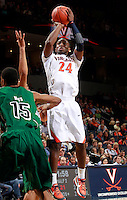 CHARLOTTESVILLE, VA- NOVEMBER 26:  K.T. Harrell #24 of the Virginia Cavaliers shoots the ball during the game on November 26, 2011 at the John Paul Jones Arena in Charlottesville, Virginia. Virginia defeated Green Bay 68-42. (Photo by Andrew Shurtleff/Getty Images) *** Local Caption *** K.T. Harrell