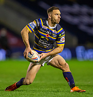 13th November 2020; The Halliwell Jones Stadium, Warrington, Cheshire, England; Betfred Rugby League Playoffs, Catalan Dragons versus Leeds Rhinos; Luke Gale of Leeds Rhinos passes the ball