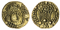 BNPS.co.uk (01202) 558833. <br /> Pic: Spink&Son/BNPS<br /> <br /> Pictured: This Post-Crondall Types (c. 655-675), Pale Gold Shilling sold for £9,000. <br /> <br /> A finance director's remarkable collection of historic Anglo-Saxon coins has sold for a staggering £856,000.<br /> <br /> Tony Abramson, president of the Yorkshire Numismatic Society, started collecting aged four in the 1950s.<br /> <br /> His passion developed during his teenage years and he went to great lengths to bolster his collection in the decades that followed until it reached 1,200 coins.