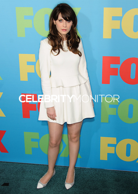 NEW YORK CITY, NY, USA - MAY 12: Zooey Deschanel at the FOX 2014 Programming Presentation held at the FOX Fanfront on May 12, 2014 in New York City, New York, United States. (Photo by Celebrity Monitor)