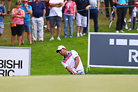 Pablo Larrazabal chips onto the 17th green during the BMW PGA Golf Championship at Wentworth Golf Course, Wentworth Drive, Virginia Water, England on 27 May 2017. Photo by Steve McCarthy/PRiME Media Images.