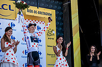 Tom Skujins (LAT/Trek Segafredo) in the Polka Dot Jersey.<br /> <br /> Stage 6: Brest > Mûr de Bretagne / Guerlédan (181km)<br /> <br /> 105th Tour de France 2018<br /> ©kramon