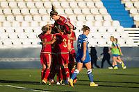 Spain's Marta Torrejon, Leila Ouahabi  and Veronica Boquete during the match of  European Women's Championship 2017 at Leganes, between Spain and Finland. September 20, 2016. (ALTERPHOTOS/Rodrigo Jimenez) NORTEPHOTO