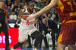 Real Madrid´s Kevin Rivers during 2014-15 Euroleague Basketball match between Real Madrid and Galatasaray at Palacio de los Deportes stadium in Madrid, Spain. January 08, 2015. (ALTERPHOTOS/Luis Fernandez)