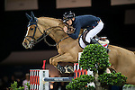 Bertram Allen on Quiet Easy 4 competes and wins during Longines Speed Challenge at the Longines Masters of Hong Kong on 20 February 2016 at the Asia World Expo in Hong Kong, China. Photo by Li Man Yuen / Power Sport Images