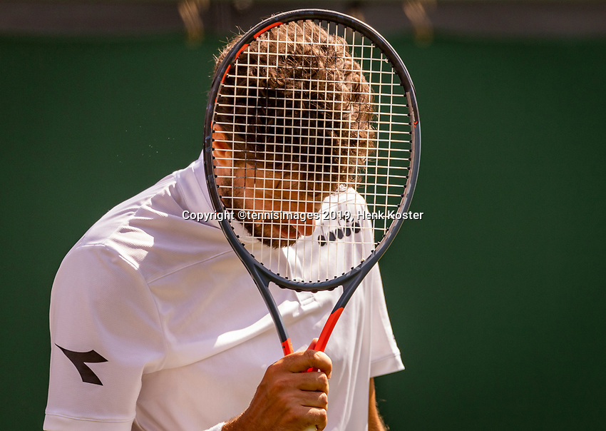 London, England, 3 July, 2019, Tennis,  Wimbledon, Robin Haase (NED) is frustrated<br /> Photo: Henk Koster/tennisimages.com