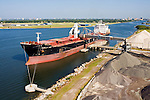 CSL Sheila Ann discharging bulk materials at Martin Marietta Bulk Materials Facility - Tampa Bay