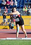 Renee Foessel, Toronto 2015 - Para Athletics // Para-athlétisme.<br /> Renee Foessel competes in the Women's Discus Throw F37/38/44 Final // Renee Foessel participe à la finale du lancer du disque féminin F37/38/44. 12/08/2015.
