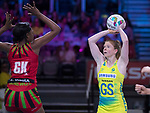 28/10/17 Fast5 2017<br /> Fast 5 Netball World Series<br /> Hisense Arena Melbourne<br /> Australia v Malawi<br /> Tegan Philips<br /> <br /> <br /> <br /> <br /> Photo: Grant Treeby